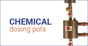 Chemical dosing pots